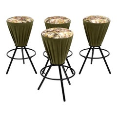 Midcentury Set of Italian Bar Stools