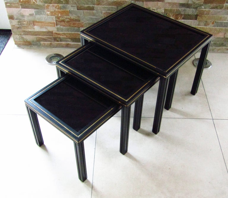 French Midcentury Set of Nesting Tables by Pierre Vandel For Sale