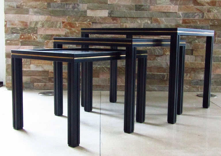 Late 20th Century Midcentury Set of Nesting Tables by Pierre Vandel For Sale