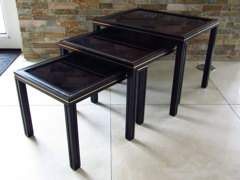 Aluminum Midcentury Set of Nesting Tables by Pierre Vandel For Sale