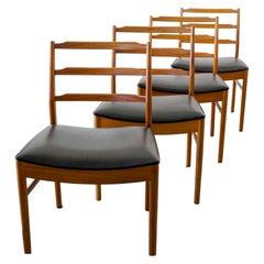 Midcentury Set of Teakwood Chair