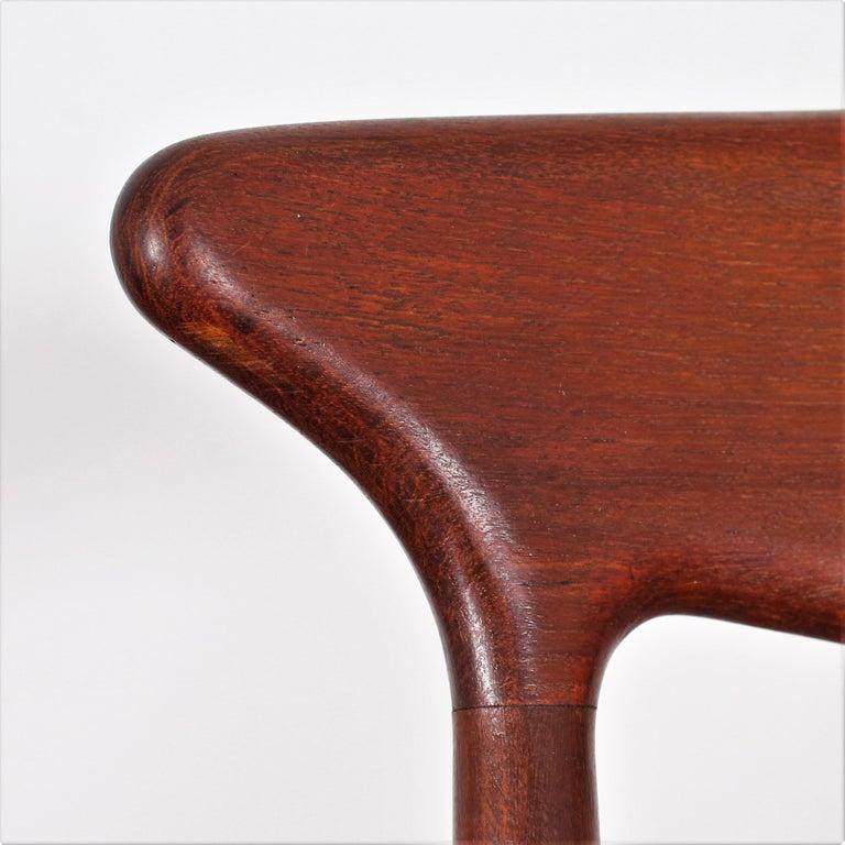 Midcentury, Set of Two Teak Danish Chair by Hovmand-Olsen for M.K., Denmark For Sale 7