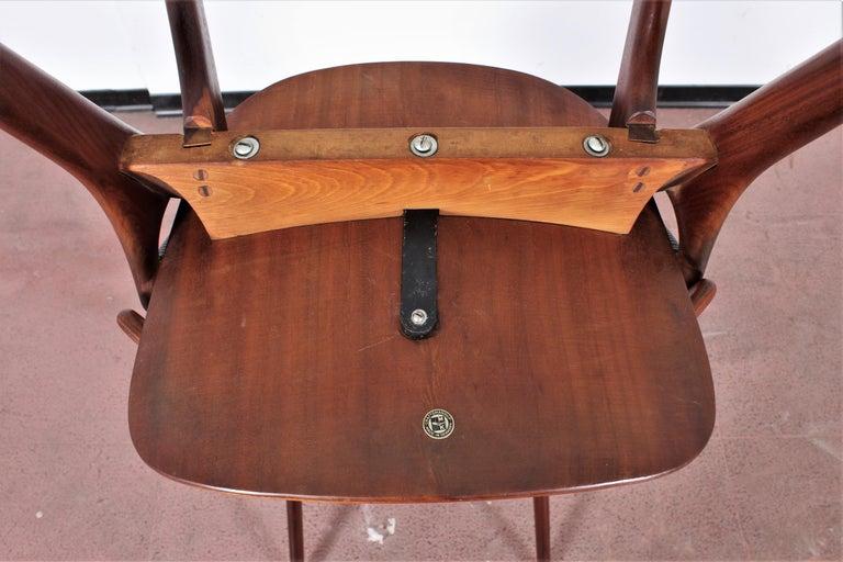 Midcentury, Set of Two Teak Danish Chair by Hovmand-Olsen for M.K., Denmark For Sale 13