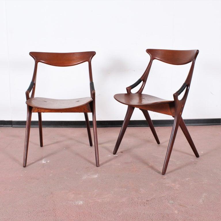 Mid-Century Modern Midcentury, Set of Two Teak Danish Chair by Hovmand-Olsen for M.K., Denmark For Sale