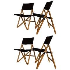 "Midcentury Set of Zanotta ""Navy"" Folding Chairs by Sergio Asti, 1969"