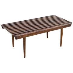 Mid Century Short Slat Bench