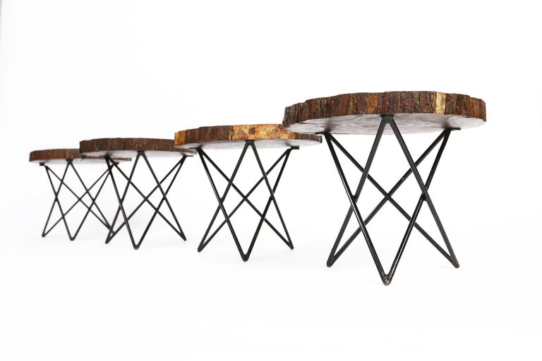Midcentury Side or Coffee Tables with Hairpin Legs Original, France, 1950s 3