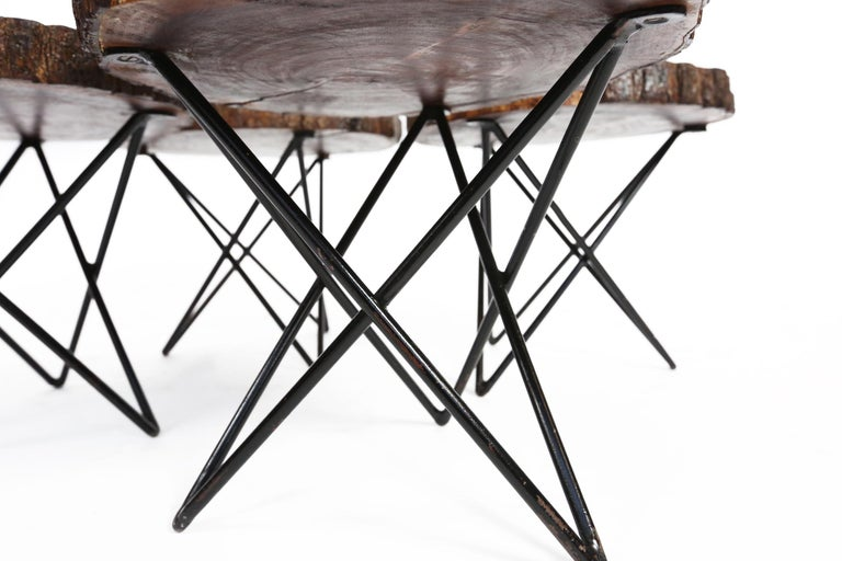 Midcentury Side or Coffee Tables with Hairpin Legs Original, France, 1950s 5
