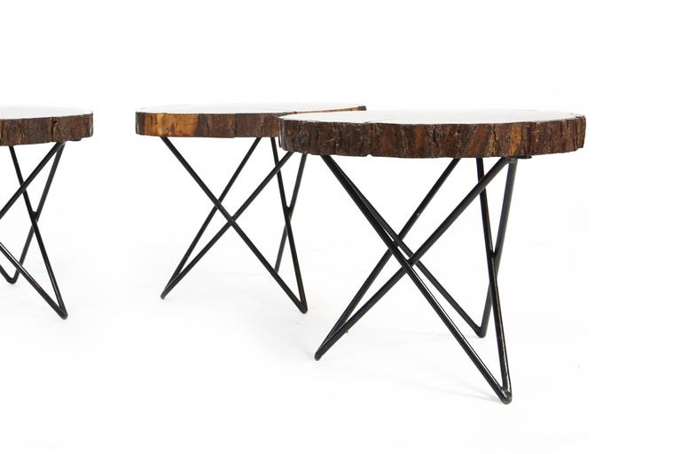 Midcentury Side or Coffee Tables with Hairpin Legs Original, France, 1950s 9