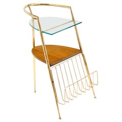 Midcentury Side Table and Magazine Stand
