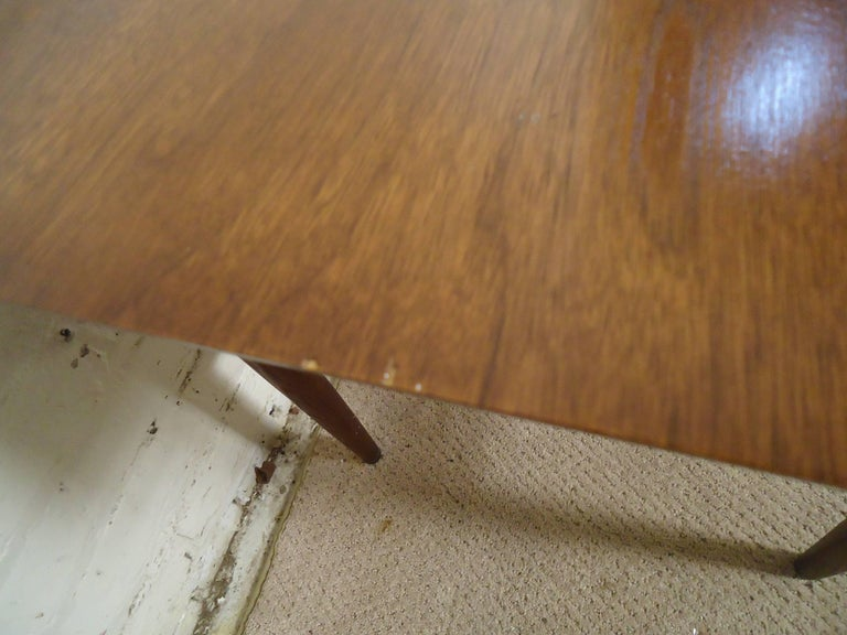 Walnut Midcentury Side Table For Sale