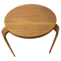 Mid Century  Side Table in Bentwood Attributed to Thonet