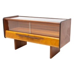Mid Century Side Table or Glazed Cabinet, Czechoslovakia, 1960´s