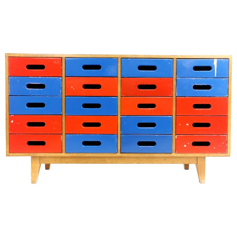 Midcentury Sideboard Chest of Drawers by James Leonard for Esavian