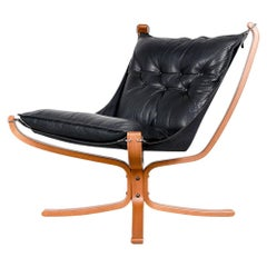 Mid Century Sigurd Resell for Vatne Mobler Norway Falcon Chair