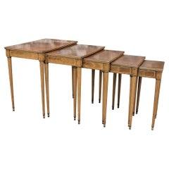 Mid Century Simon Loscertales Bona Neoclassical Revival Styled Nesting Table Set