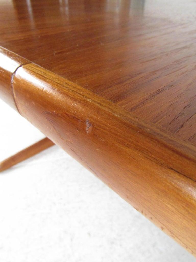 Midcentury Skovby Danish Teak Dining Table For Sale 8