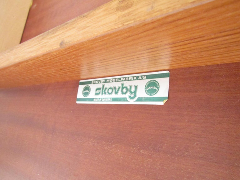 Midcentury Skovby Danish Teak Dining Table For Sale 9