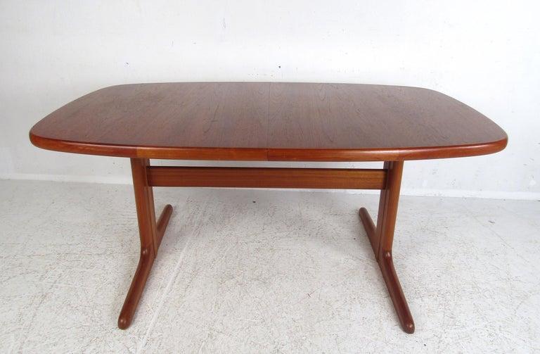 Midcentury Skovby Danish Teak Dining Table For Sale 1