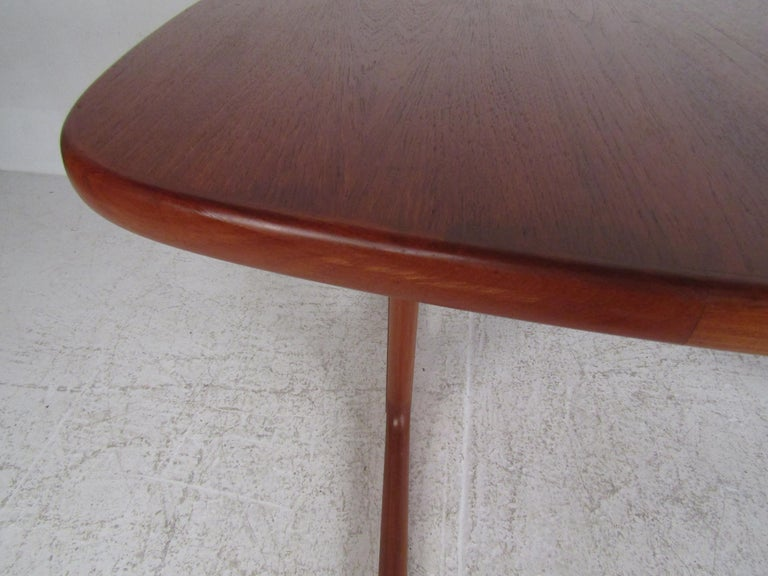 Midcentury Skovby Danish Teak Dining Table For Sale 2