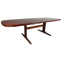 Midcentury Skovby Danish Teak Dining Table