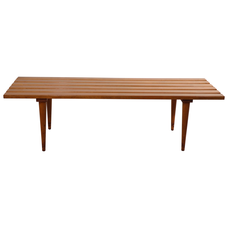 Mid Century Slat Bench Coffee Table Made in Yugoslavia