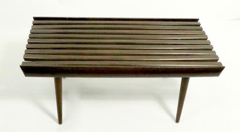 Mid-Century Modern Mid Century Slat Bench Table For Sale