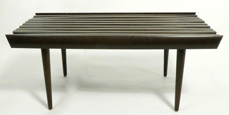 20th Century Mid Century Slat Bench Table For Sale
