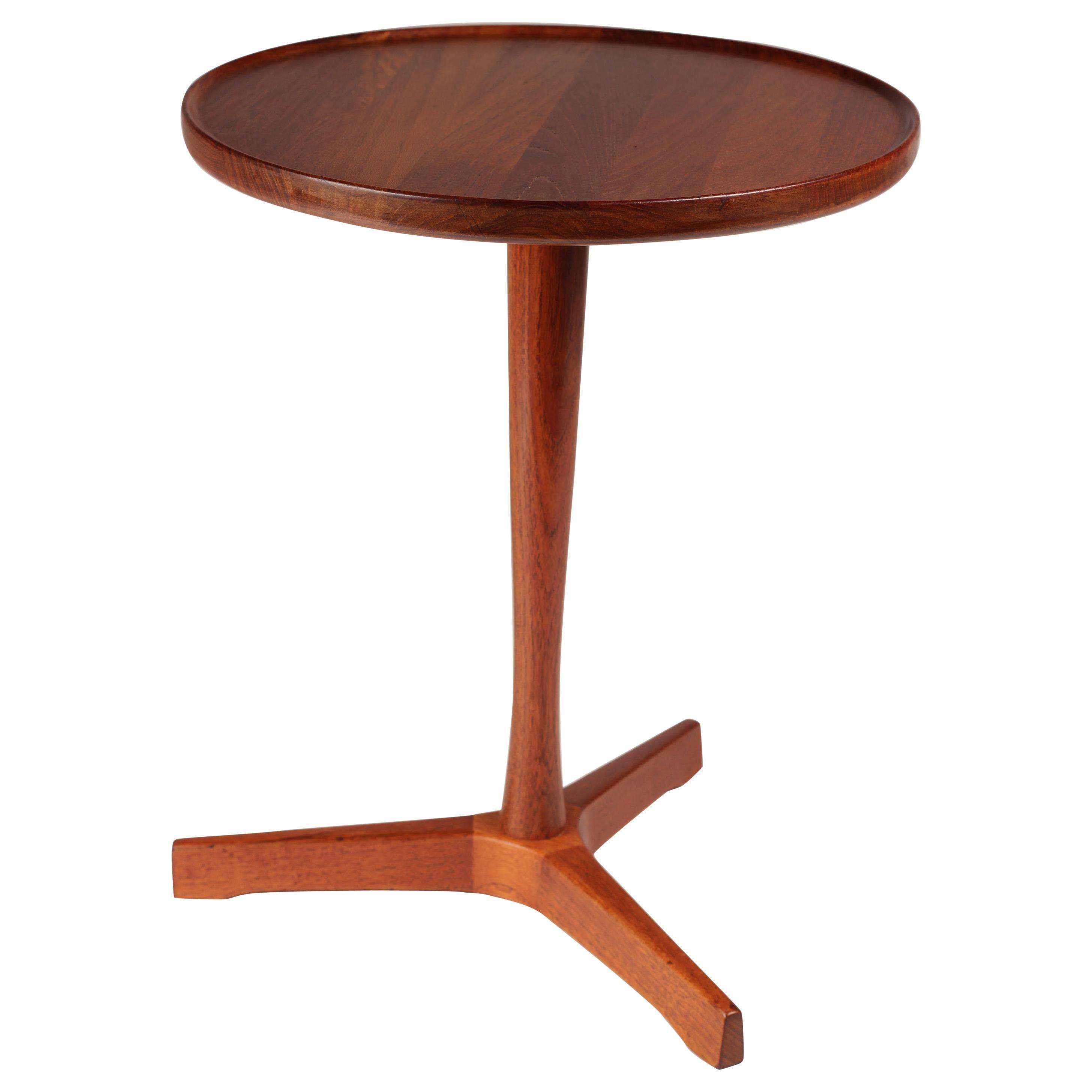 Scandinavian Modern Danish Teak Side Table Designed by Hans Andersen