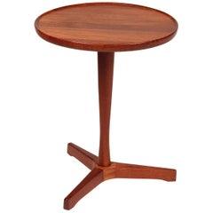 Midcentury Small Danish Teak Side Table Designed by Hans C Andersen