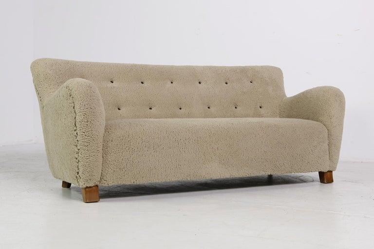 Midcentury Sofa Denmark 1950s Teddy
