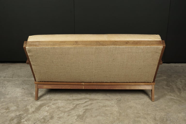 Leather Vintage Midcentury Bas Van Pelt Sofa from Holland, circa 1960 For Sale