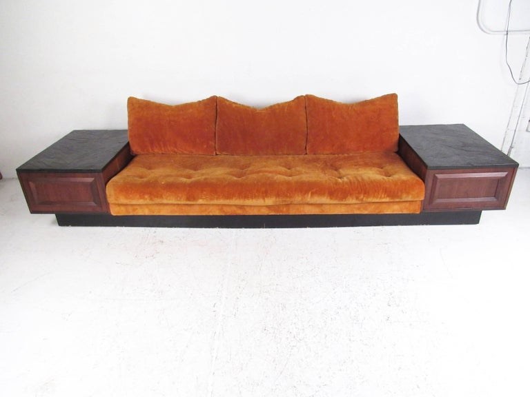 Super Mid Century Sofa With Slate Top End Tables After Adrian Pearsall Alphanode Cool Chair Designs And Ideas Alphanodeonline