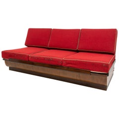 Midcentury Sofabed in Walnut by Jindrich Halabal for UP Zavody, 1950s