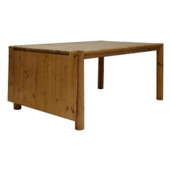 Midcentury Solid Extendable Pine Table, Rainer Daumiller for Hirtshals Savvaerk