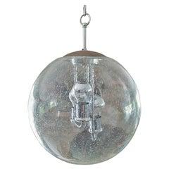 Mid-Century Space Age Murano Blown Glass Globe Bubble Lamp, Doria Germany 1960s