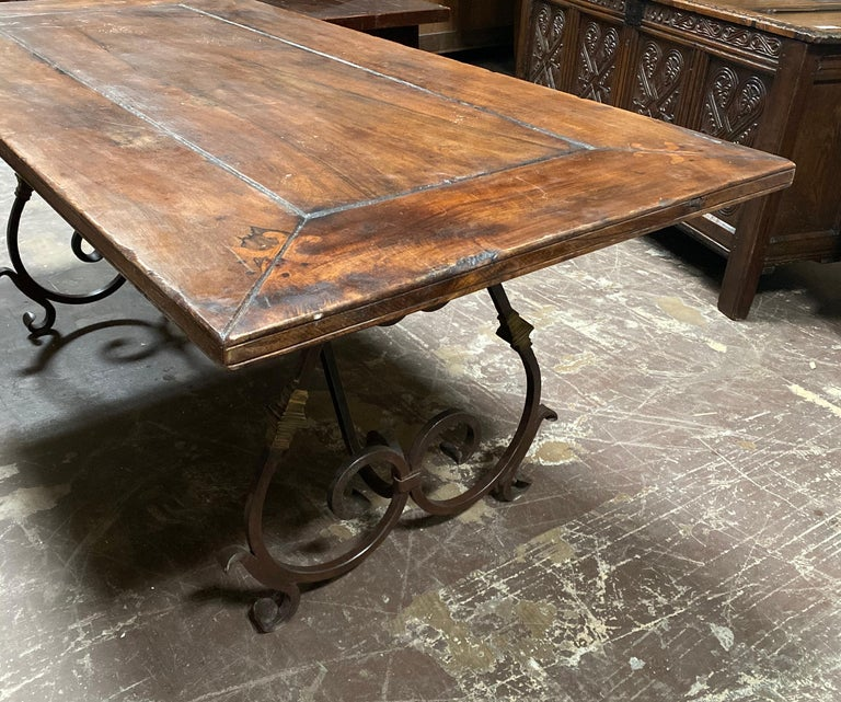 20th Century Midcentury Spanish Dining Table For Sale