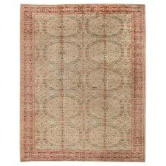 Midcentury Spanish Handwoven Wool Carpet