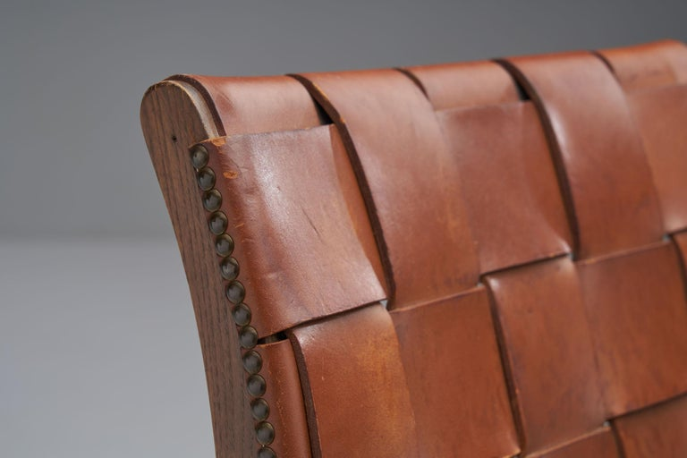 Mid-Century Spanish Valenti Leather Chair by Pierre Lottier, Spain, 1950s For Sale 4