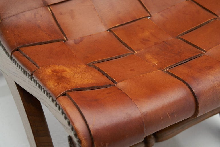 Mid-Century Spanish Valenti Leather Chair by Pierre Lottier, Spain, 1950s For Sale 6
