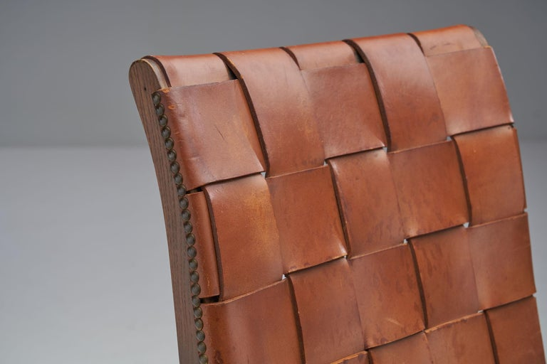 Mid-Century Spanish Valenti Leather Chair by Pierre Lottier, Spain, 1950s For Sale 3