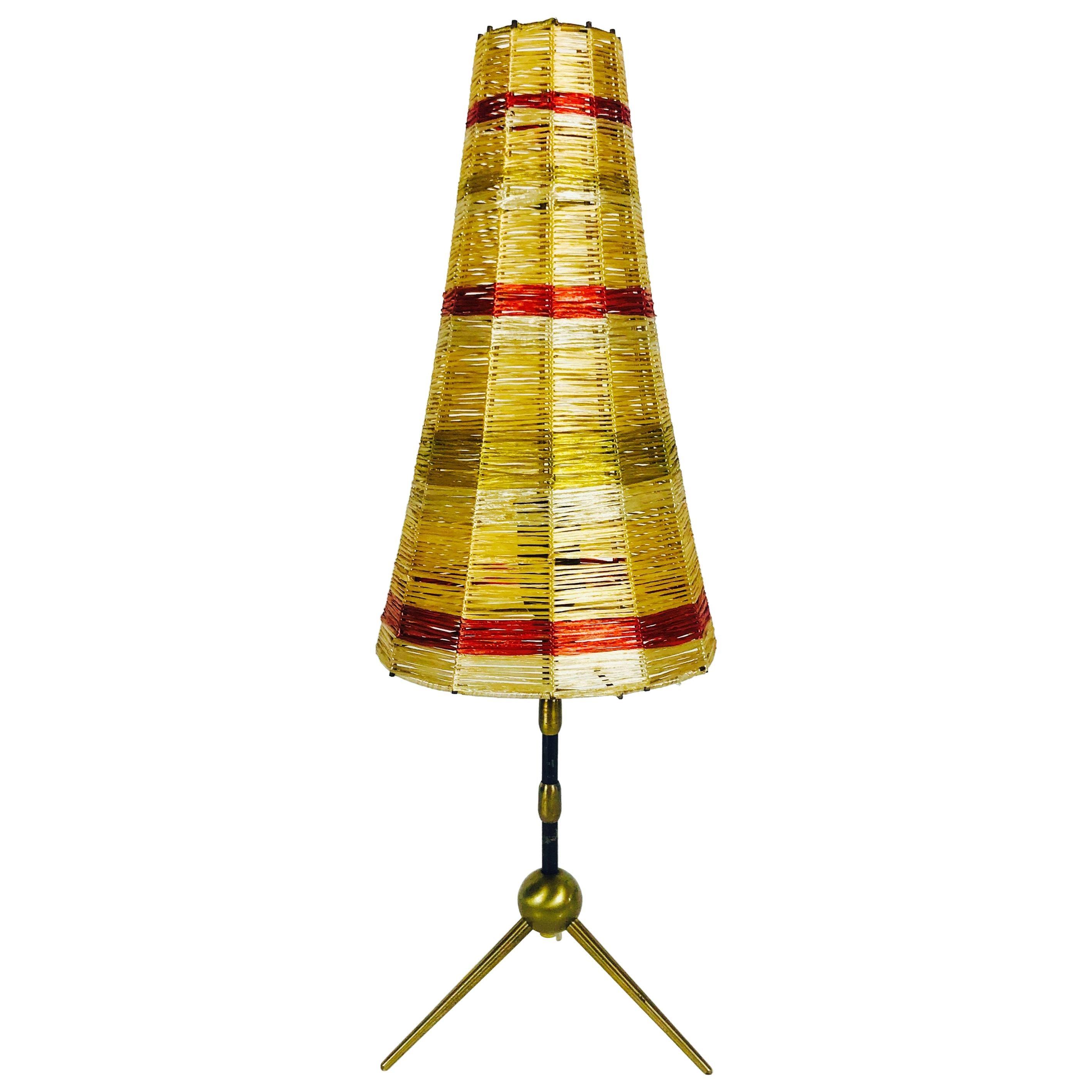 Midcentury Sputnik Brass Table Lamp, 1950s