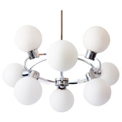 Midcentury Sputnik Multi-Globe Chandelier or Pendant Lamp Orbit, 1970s, Germany
