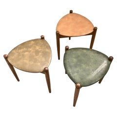 Midcentury Stacking Stools, Italy, 1960s