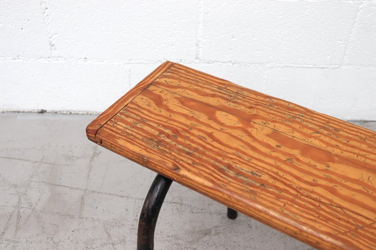Mid-20th Century Mid-Century Stacking Wood Slat Gymnasium Benches For Sale