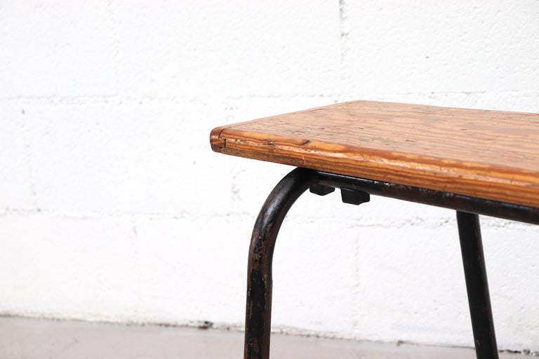 Mid-Century Stacking Wood Slat Gymnasium Benches For Sale 1