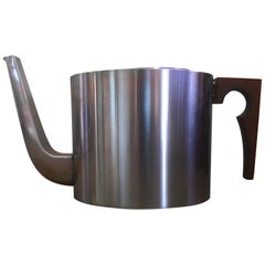 """Midcentury Stainless Steel """"Cylindia"""" Tea Pot by Arne Jacobsen for Lauffer"""