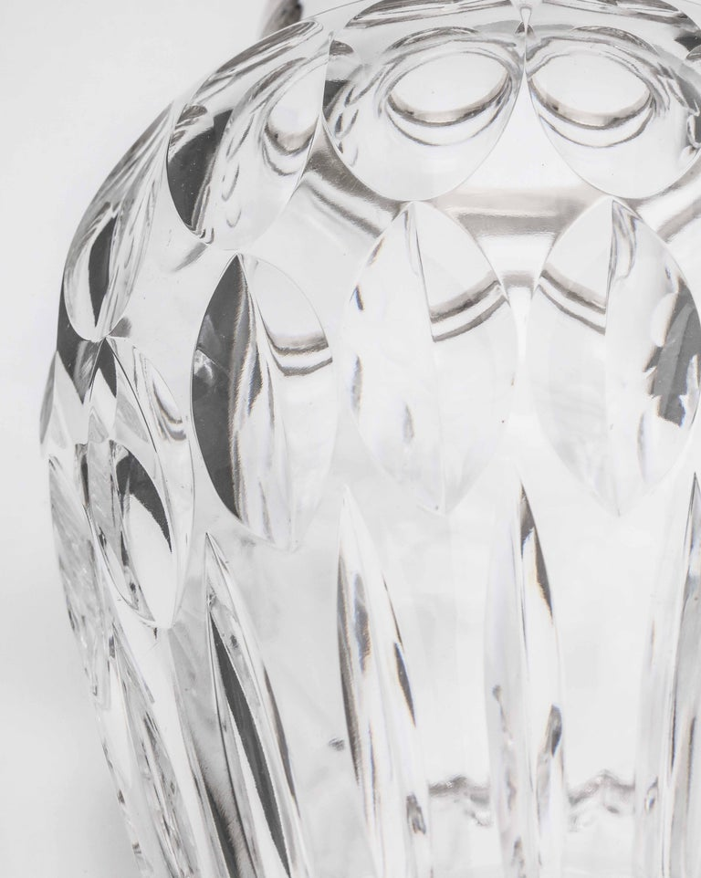 Mid-Century Sterling Silver-Mounted Cut Crystal Vase For Sale 5