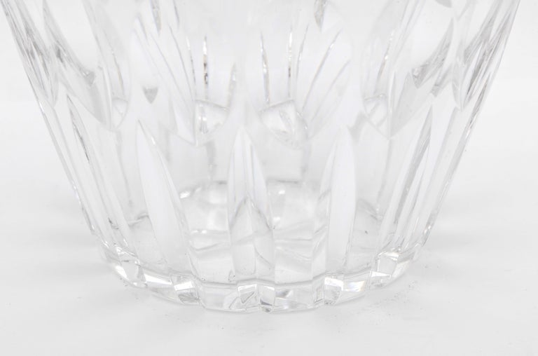 Mid-Century Sterling Silver-Mounted Cut Crystal Vase In Good Condition For Sale In New York, NY