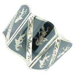 Mid-Century Sterling Silver Thai Design Bracelet